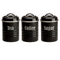 Typhoon® Vintage Kitchen Black 3 Canister Set