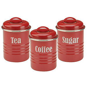 Typhoon® Vintage Kitchen Red 3 Canister Set