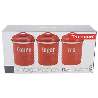 Typhoon® Vintage Kitchen Red 3 Canister Set alt image 2