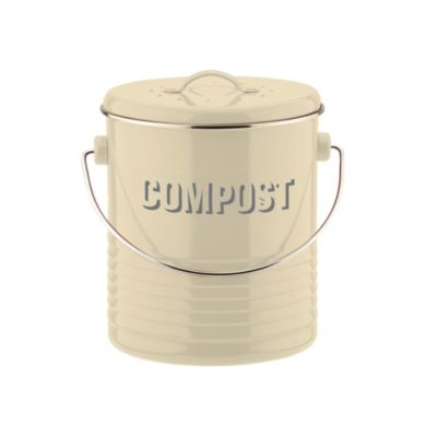 Typhoon 174 Vintage Kitchen Cream Compost Caddy In Compost