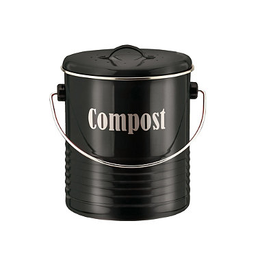Typhoon® Vintage Kitchen Black Compost Caddy