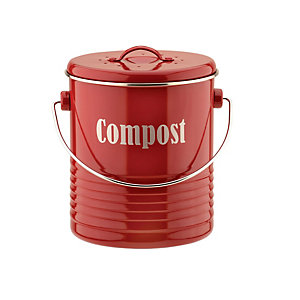 Typhoon® Vintage Caddy Food Compost Bin - Red 2.5L