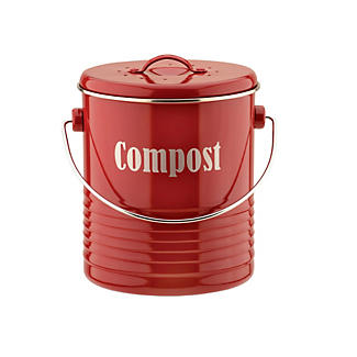 Typhoon® Vintage Caddy Food Compost Bin - Red