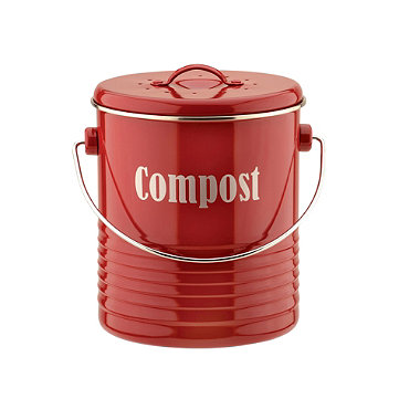 Typhoon® Vintage Kitchen Red Compost Caddy
