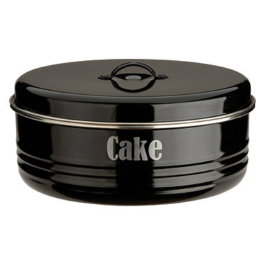 Typhoon® Vintage Kitchen Black Cake Tin