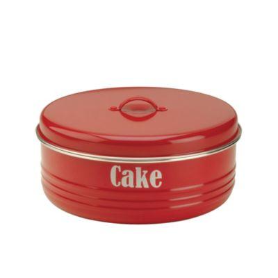 Typhoon&174 Vintage Kitchen Red Cake Tin