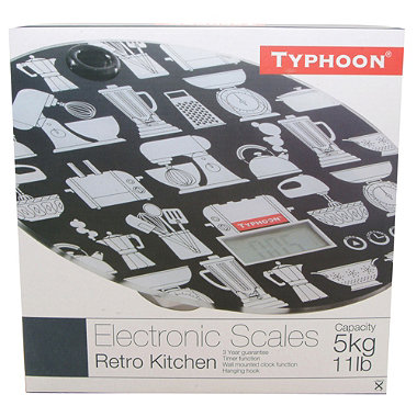 Typhoon® Retro Kitchen Electronic Scales