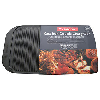 Typhoon® Cast Iron Double Chargriller alt image 2