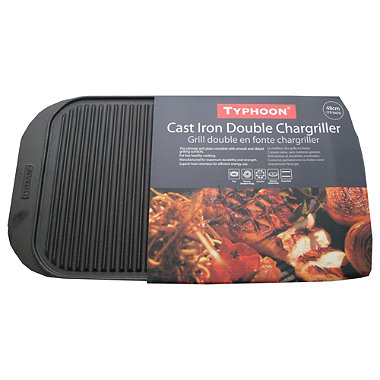 Typhoon® Cast Iron Double Chargriller