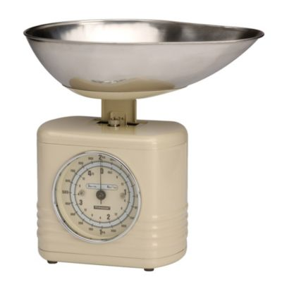 Typhoon&174 Vintage Cream Mechanical Kitchen Weighing Scales