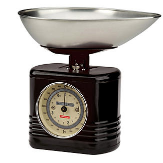 Typhoon® Vintage Black Mechanical Kitchen Weighing Scales