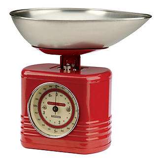 Typhoon Vintage Red Mechanical Kitchen Weighing Scales
