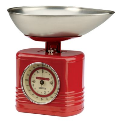 Typhoon&174 Vintage Red Mechanical Kitchen Weighing Scales