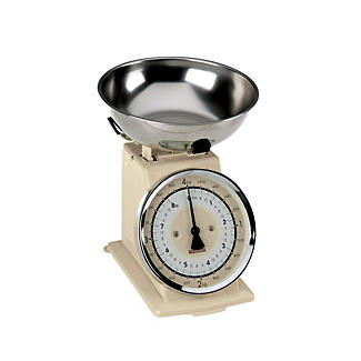Typhoon® Retro Cream Mechanical Kitchen Weighing Scales