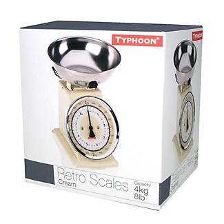 Typhoon® Retro Cream Mechanical Kitchen Weighing Scales alt image 2