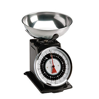 Typhoon® Retro Black Mechanical Kitchen Weighing Scales