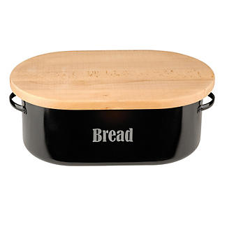 Typhoon® Vintage Kitchen Black Bread Bin