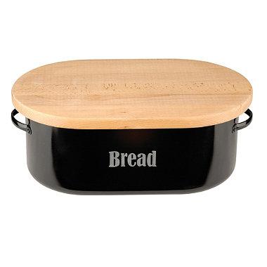 Typhoon® Vintage Kitchen Black Bread Bin
