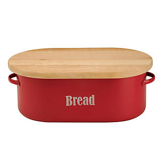 Typhoon® Vintage Kitchen Red Bread Bin