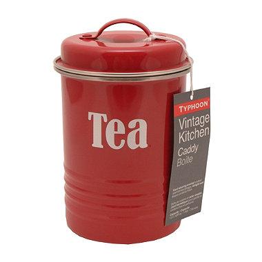 Typhoon® Vintage Kitchen Red Tea Canister