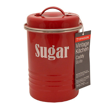 Typhoon® Vintage Kitchen Red Sugar Canister