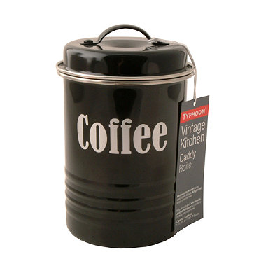 Typhoon® Vintage Kitchen Black Coffee Canister