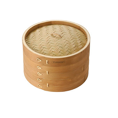 "Typhoon® 10"" Double Tier Bamboo Steamer"
