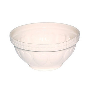 Mason Cash Romantic Hearts Cream Mixing Bowl 4.3L