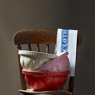 Mason Cash Romantic Hearts Cream Mixing Bowl 4.3L alt image 4