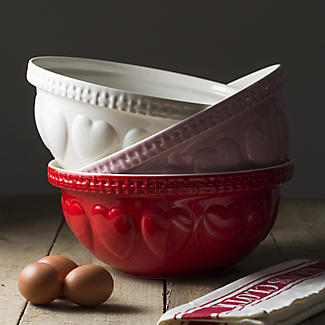 Mason Cash Romantic Hearts Pink Mixing Bowl 4.3L alt image 2