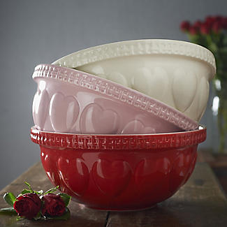 Mason Cash Romantic Hearts Pink Mixing Bowl 4.3L alt image 3