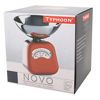 Typhoon® Novo Red Mechanical Kitchen Weighing Scales alt image 2