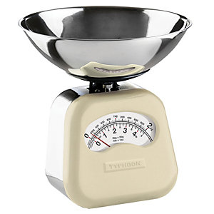 Typhoon® Novo Cream Mechanical Kitchen Weighing Scales