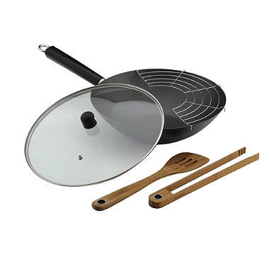 "Typhoon® 12"" Non-Stick Professional Wok Set"