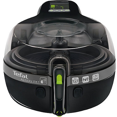 Tefal® Actifry 2 in 1 Low Fat Fryer Black YV960140
