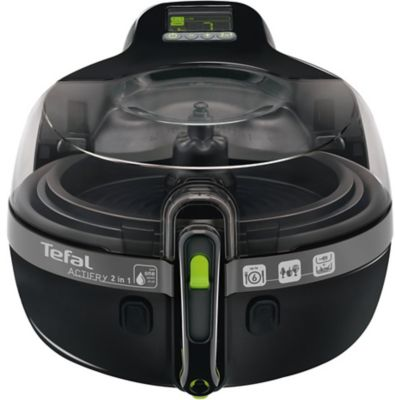 Tefal&174 Actifry 2 in 1 Low Fat Fryer Black YV960140