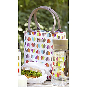 Confetti Heart Lunch Tote