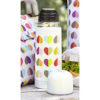 Confetti Hearts Flask