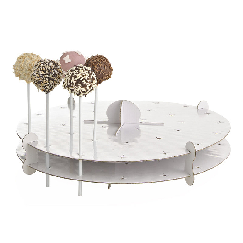cake pop st nder zum verzieren aus karton f r bis zu 32 cake pops 31 cm ebay. Black Bedroom Furniture Sets. Home Design Ideas