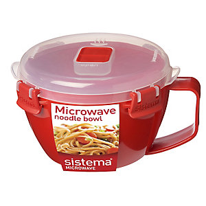 Klip It Microwave Cookware - Red Lidded Noodle Bowl 940ml
