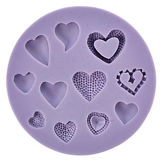 Hearts Silicone Icing Mould alt image 2