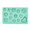 Buttons Silicone Icing Mould