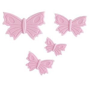 4 Mini Fondant Icing Cutters - Butterfly Shaped