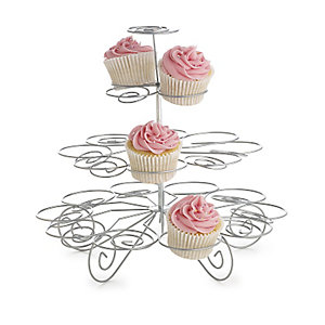 Large Swirly Cupcake Centrepiece Cake Display Stand - Holds 23 Cakes