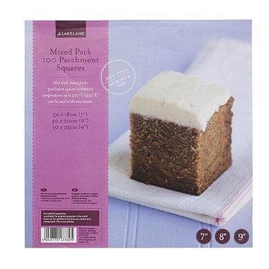 Mixed Baking Parchment Squares