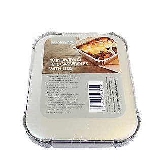 10 Disposable Foil Containers Casserole Dishes & Lids