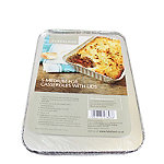 5 Disposable Foil Containers Casserole Dishes & Lids - 900ml