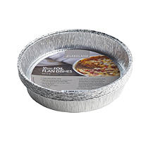 10 Disposable Foil Containers 20cm Flan & Quiche Dishes