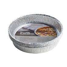 10 Foil 20cm Flan Dishes