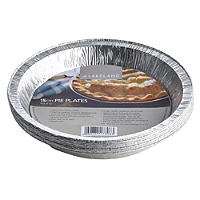 10 Disposable Foil Containers 15cm Round Pie Plates